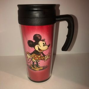 Minnie Mouse travel thermal coffee mug with lid